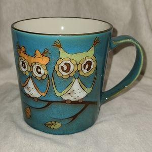🦋5/$25 Rustic look Owl Mug, Est 10-12 oz